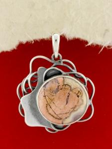 Сребърен медальон - PKWS97 - Брекча Яспис