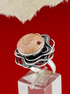 Сребърен пръстен - RKWS97 - Брекча Яспис