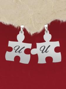 """Гравирани сребърни пъзели с надпис: """"И"""" и """"И"""""""