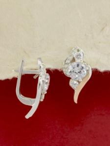 Сребърни обеци с позлата - EK0282.10
