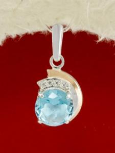 Сребърен медальон с позлата - PK0095.10