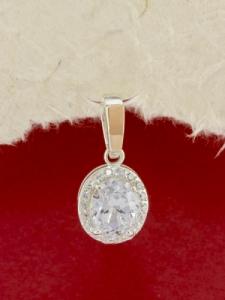 Сребърен медальон със златно покритие - PK0107.20