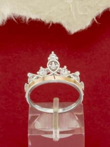 Сребърен пръстен със златно покритие - R0375.10