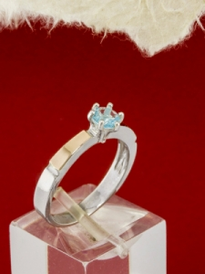 Сребърен пръстен с позлата - RK0025.10