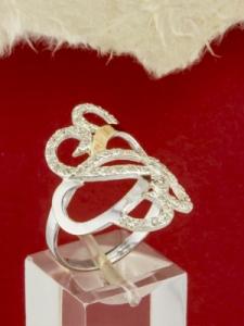 Сребърен пръстен със златно покритие - RK0029.10