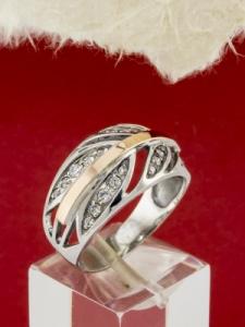 Сребърен пръстен със златно покритие - RK0085.10