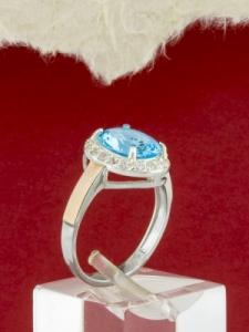 Сребърен пръстен със златно покритие - RK0107.02