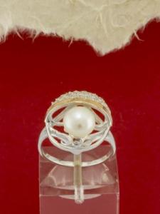 Сребърен пръстен с позлата - RK0115.10