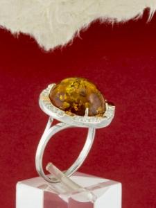 Сребърен пръстен с позлата - RK0136.01