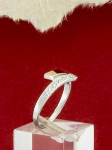 Сребърен пръстен с позлата- RK0186.10