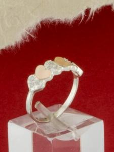 Сребърен пръстен с позлата- RK0198.10