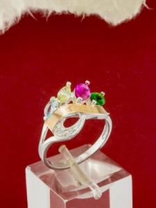 Сребърен пръстен с позлата - RK0200.02