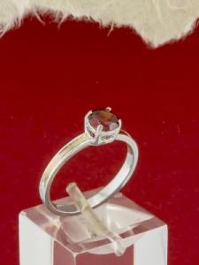 Сребърен пръстен със златно покритие - RK0212.10-RED