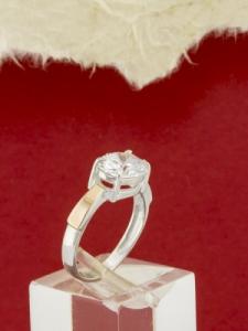 Сребърен пръстен със златно покритие - RK0254.10