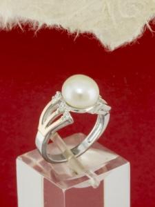 Сребърен пръстен с позлата - RK0262.10
