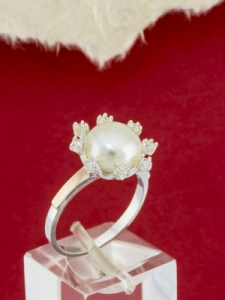 Сребърен пръстен със златно покритие - RK0306.10