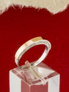 Сребърен пръстен  със златно покритие - RK0391.10