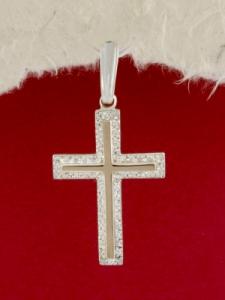 Сребърен медальон- кръст - P0194.20