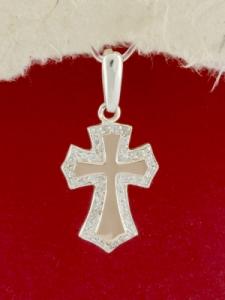 Сребърен кръст със златно покритие -P0215.10