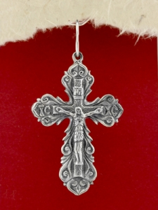 Сребърен медальон- кръст - P7020.10