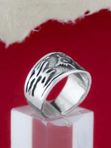 Сребърен пръстен с трайбъл - R148