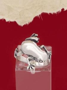 Сребърен пръстен - жабка - R153