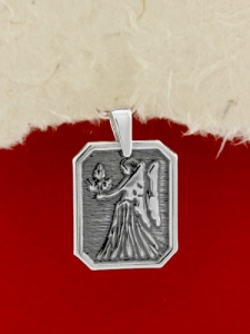 Сребърен медальон- Зодия Дева