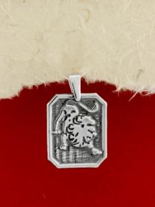 Сребърен медальон - Зодия Лъв