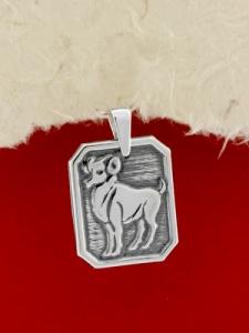 Сребърен медальон - Зодия Овен
