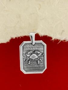 Сребърен медальон - Зодия Рак