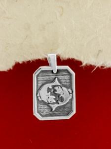 Сребърен медальон - Зодия Риби