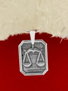 Сребърен медальон - Зодия Везни