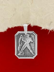 Сребърен медальон - Зодия Водолей