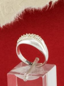 Сребърен пръстен с циркони - R551S