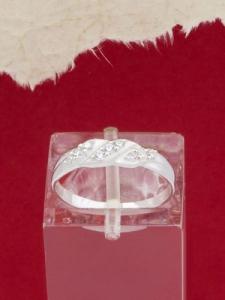 Сребърен пръстен с циркони - R1006S
