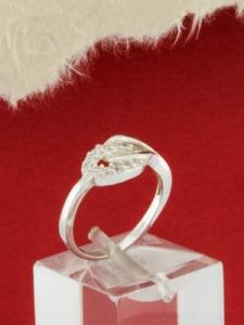 Сребърен пръстен с циркони - R1144S