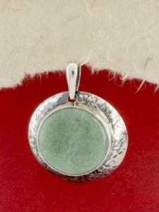 Сребърен медальон - PK3 - Авантюрин