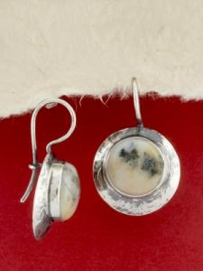 Сребърни обеци - EK3 - Дендрит Ахат