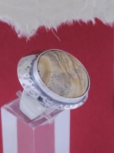 Сребърен пръстен - RK3 - Пейзажен яспис