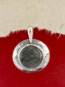 Сребърен медальон - PK3 - Сребрист Обсидиан