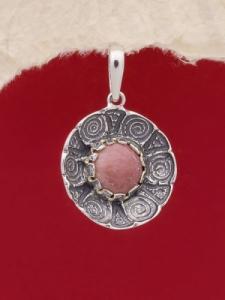 Сребърен медальон - PK22 - Родонит