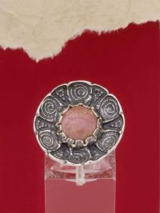 Сребърен пръстен - RK22 - Родонит