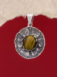 Сребърен медальон - PK22 - Тигрово Око