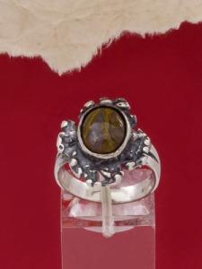 Сребърен пръстен - RK75A - Пейзажен яспис