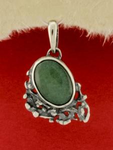 Сребърен медальон - PK75A - Авантюрин