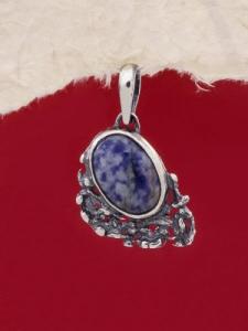 Сребърен медальон - PK75A - Содалит