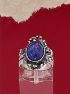 Сребърен пръстен - RK75A - Содалит