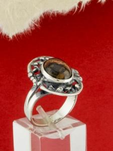 Сребърен пръстен - RК75A - Пейзажен Яспис