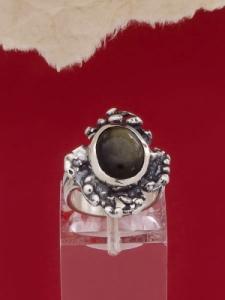 Сребърен пръстен - RK75A - Златист Обсидиан