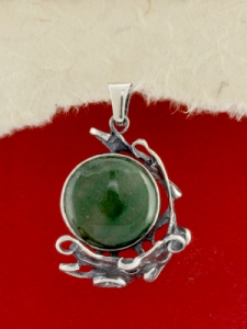 Сребърен медальон - PK162 - Авантюрин